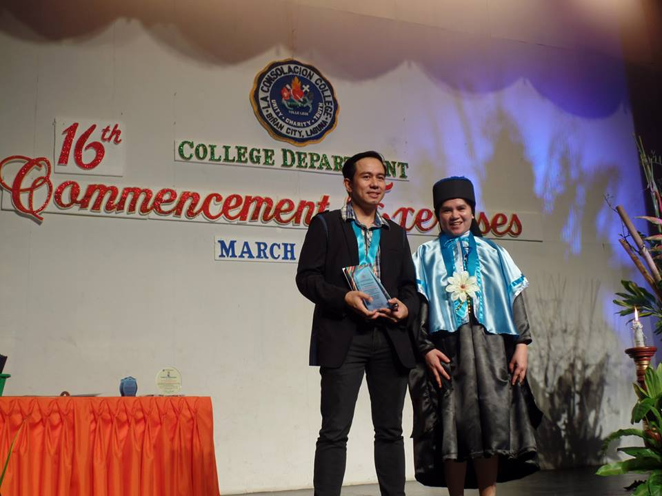 The VoiceMaster in LCC Binan 16th Commencement Exercises