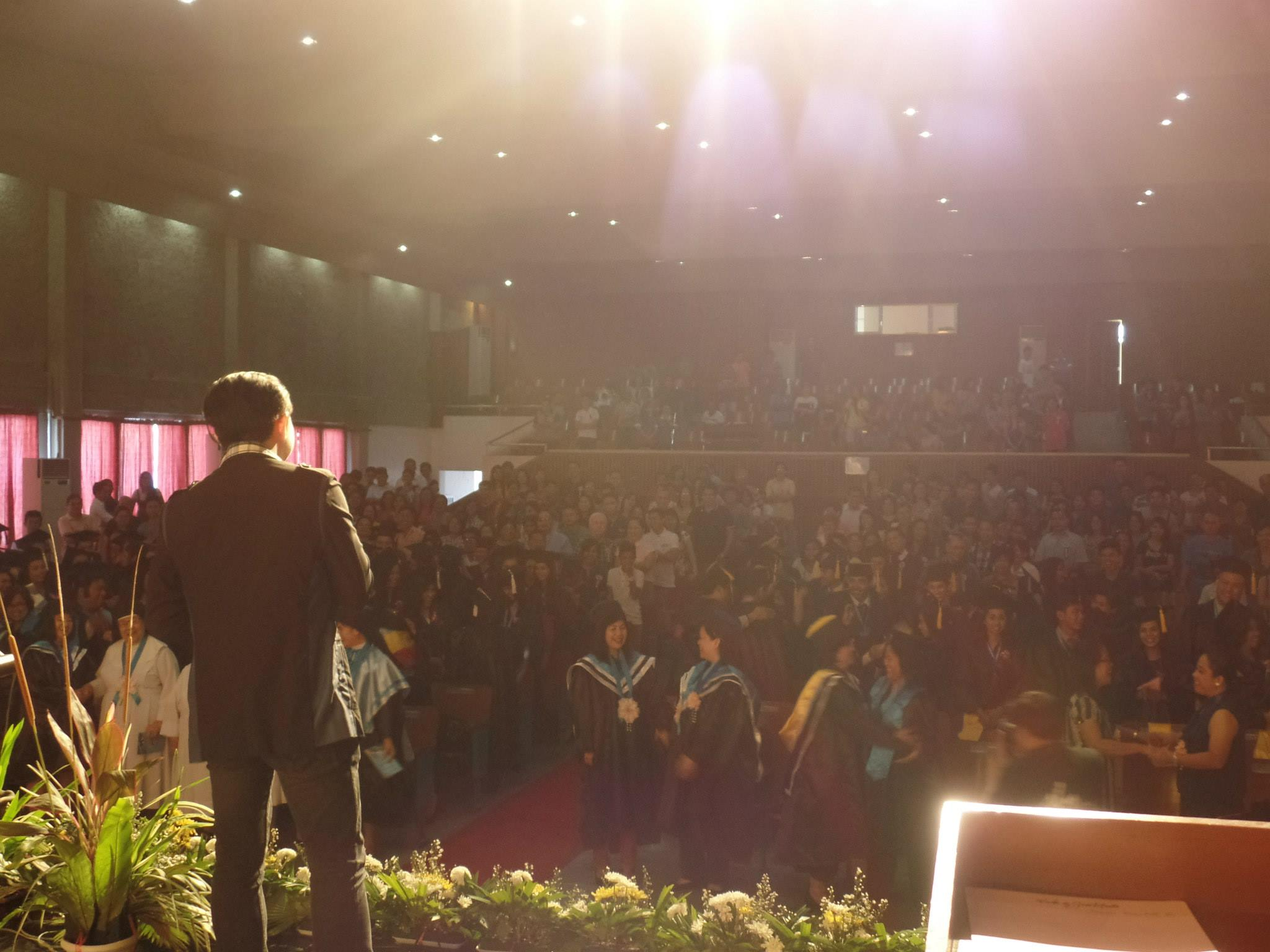 The VoiceMaster as Commencement Speaker