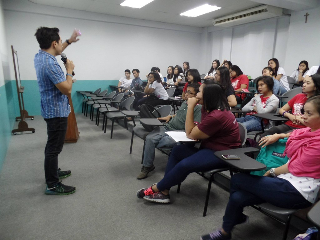 The VoiceMaster Teaching Voice Acting in St Paul University Manila
