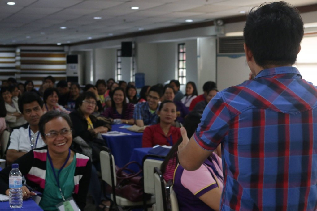 the VoiceMaster teaches Voice Care for Teachers in Iloilo