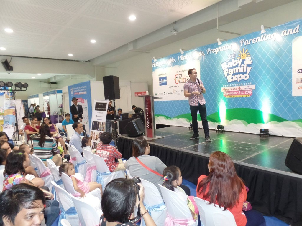 The VoiceMaster gives parenting tips in Baby and Family Expo 2015