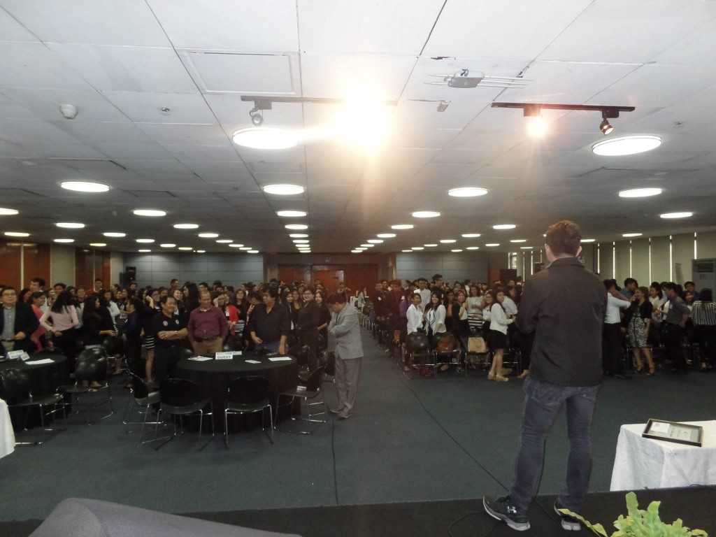 The VoiceMaster Speaking at the JA Philippines Business Leadership Summit