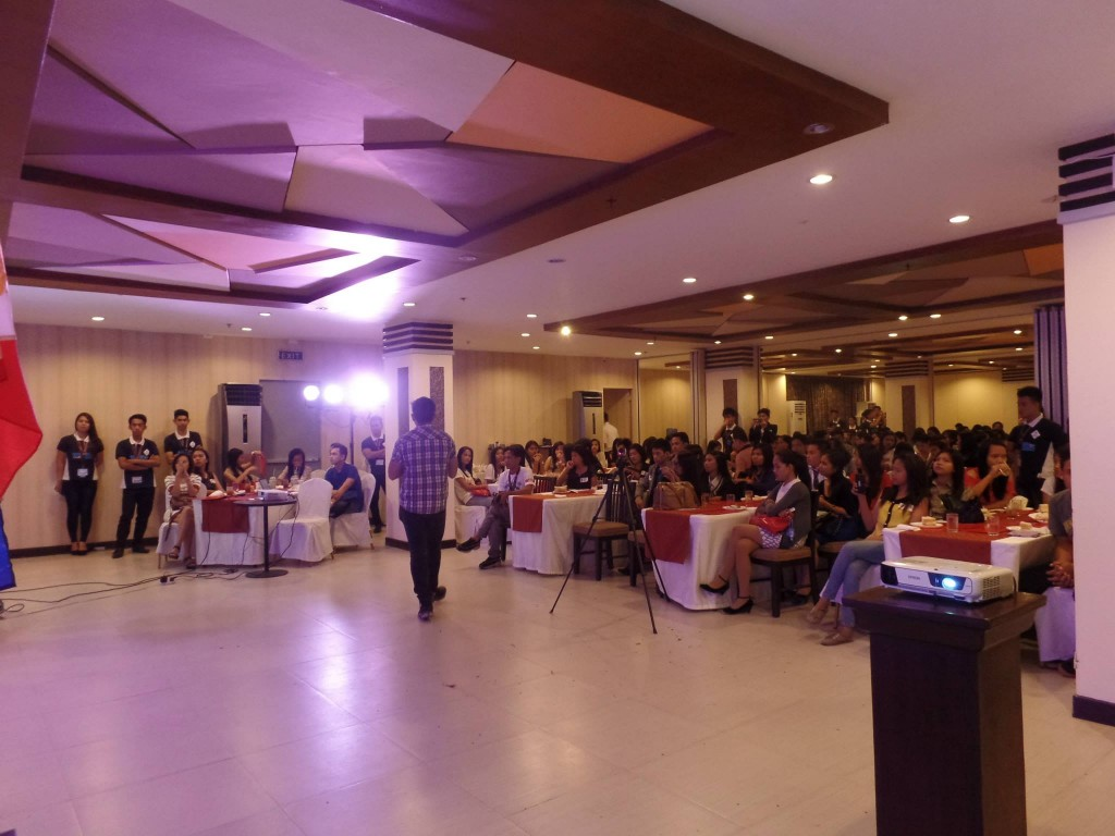 The VoiceMaster Speaking to Hospitality Students of Mabalacat City College