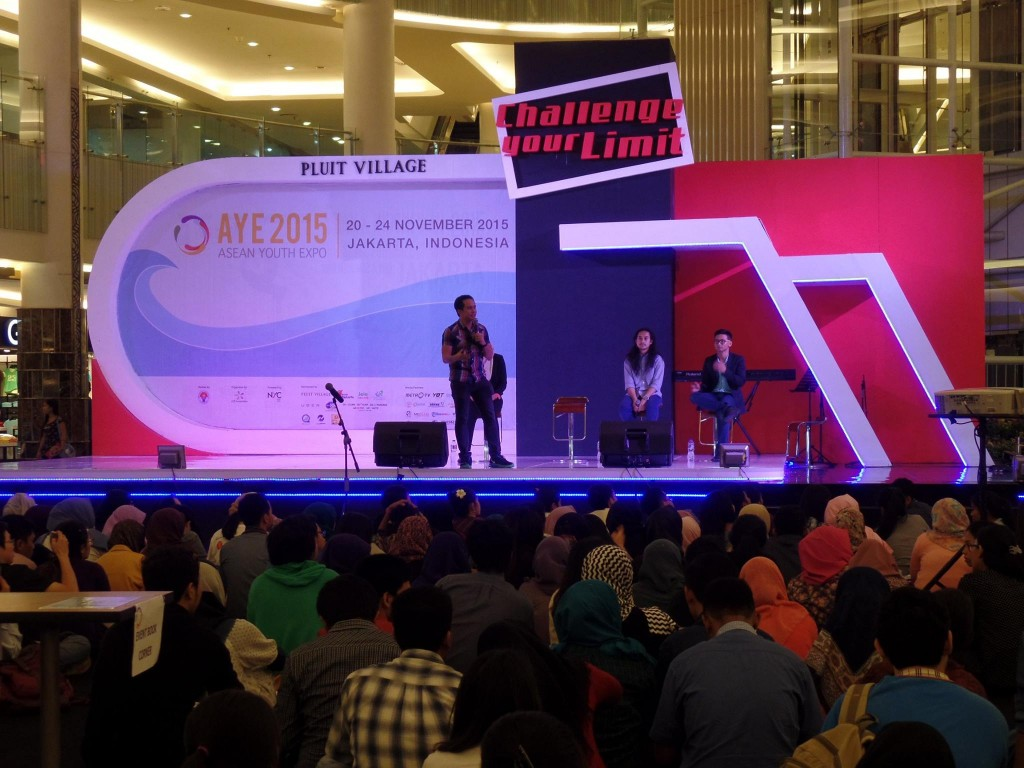 The VoiceMaster Speaks at the ASEAN Youth Expo in Jakarta Indonesia