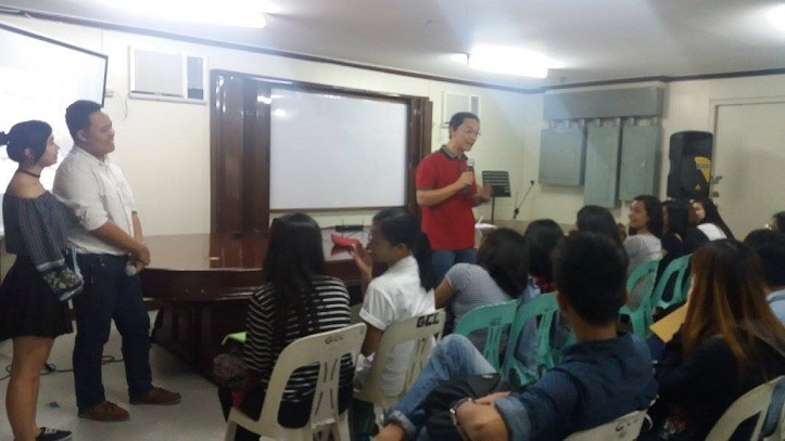 DZXL Station Manager Jenil Demorito speaks to the RBA Participants