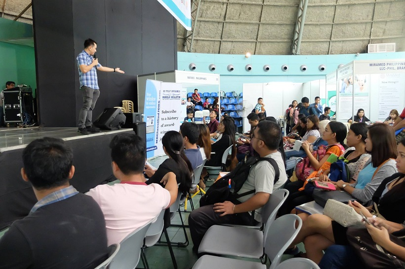 The VoiceMaster inspires job seekers at Manila Bulletin Job Fair 2016