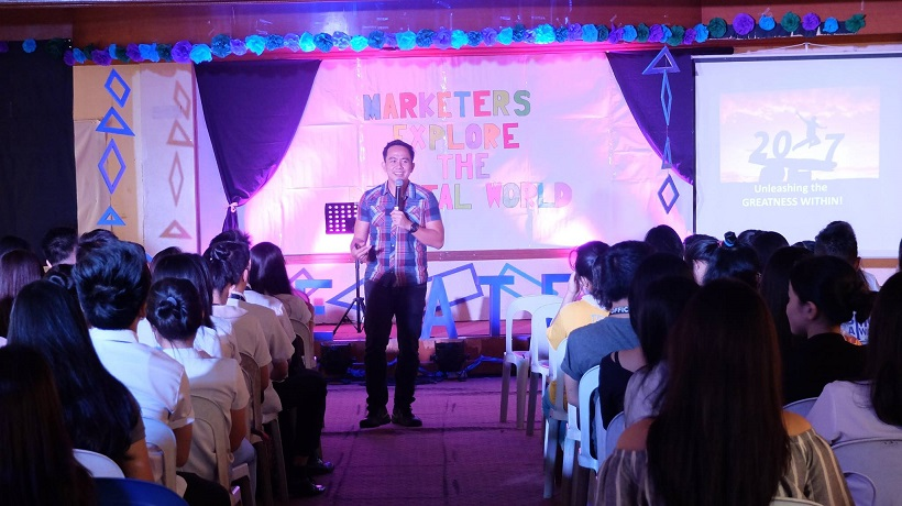 Filipino motivational speaker inspires Marketing Management students of Rizal Technological University