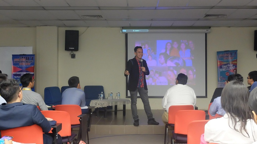 Filipino motivational speaker speaks at the ASEAN Youth Entrepreneurship Challenge in Selangor Malaysia