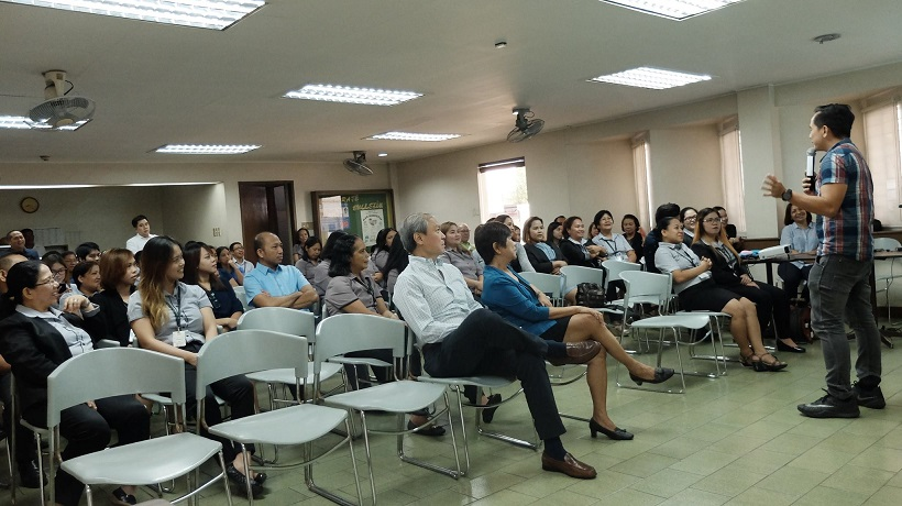 Filipino motivational speaker motivates employees of Alcantara Group of Companies