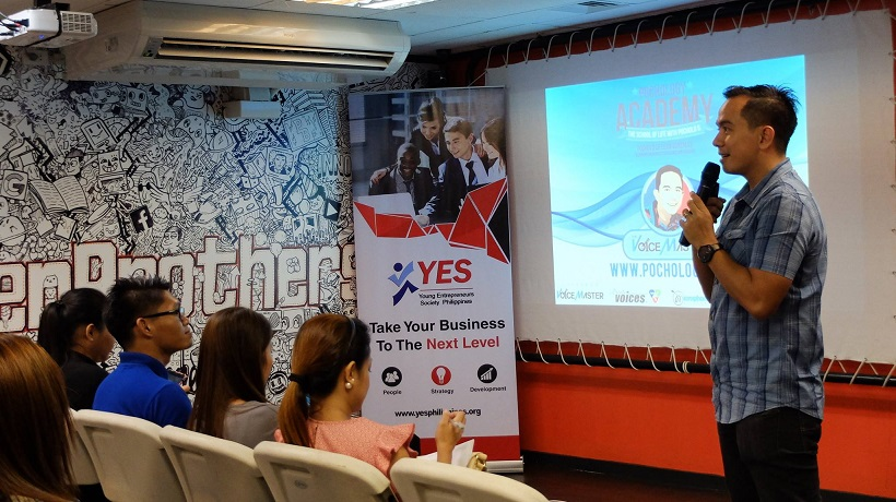Filipino motivational speaker Pocholo Gonzales talks about passion driven enterprises
