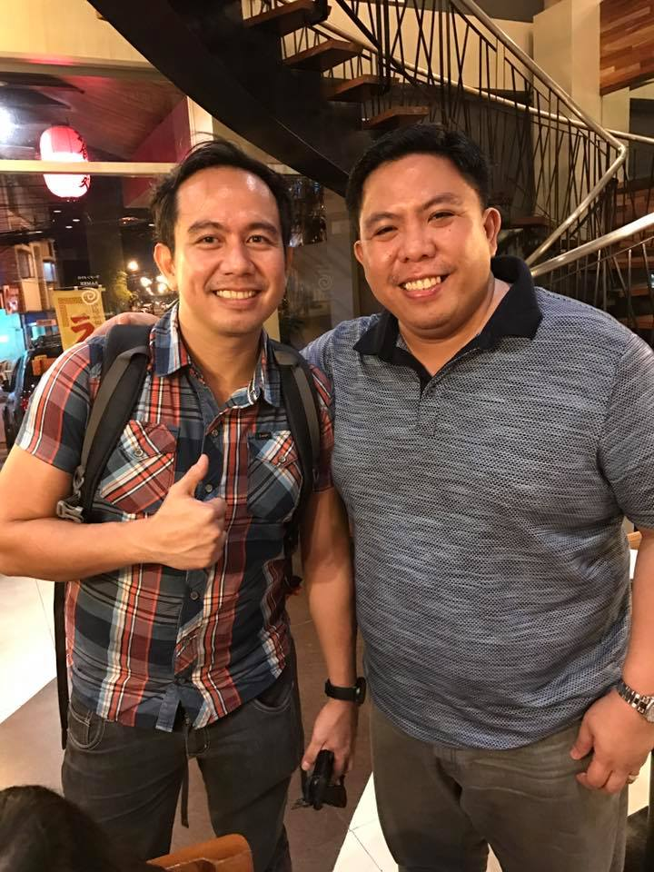 Pocholo Gonzales with Ramen Metro Owner Joey Garcia