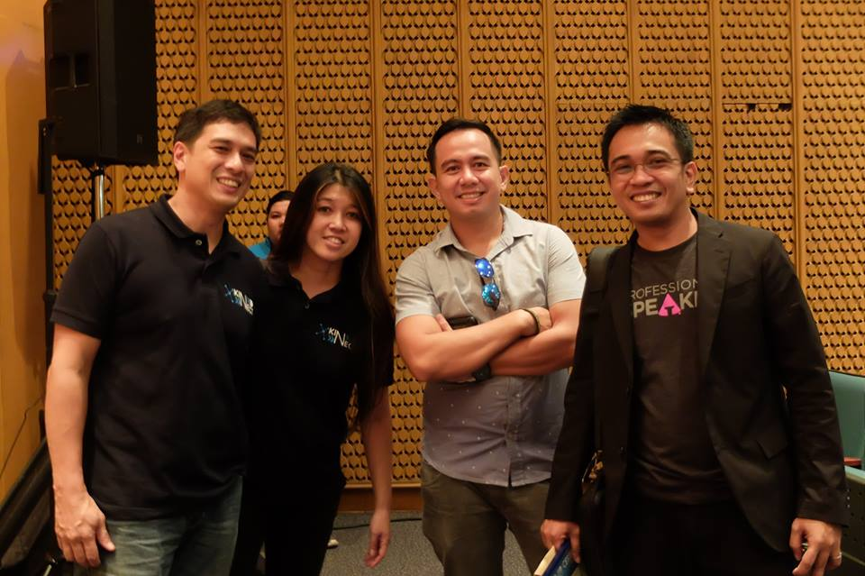 Kinect Academy Founders with Filipino motivational speakers Pocholo Gonzales and Lloyd Luna