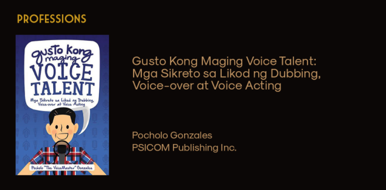 Gusto Kong Maging Voice Talent wins Best Book on Professions