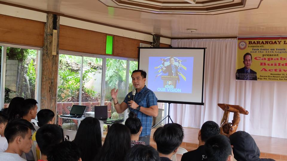 The VoiceMaster Inspires the youth of Barangay Langgam San Pedro Laguna