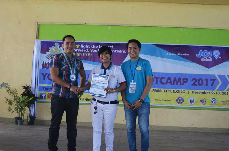 The VoiceMaster speaks at the Passi City Young Leader's Bootcamp 2017