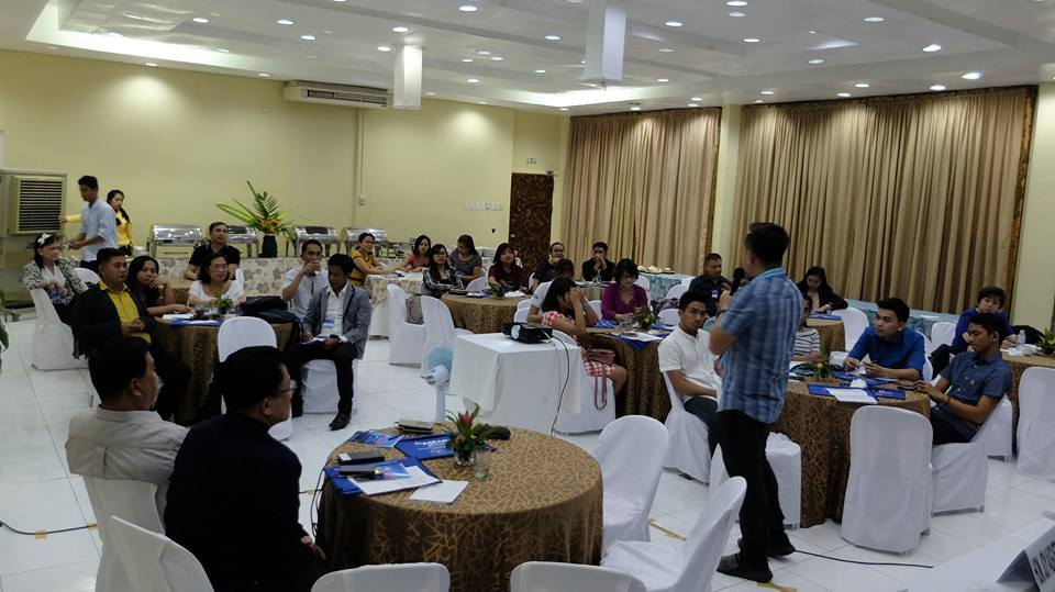 Filipino motivational speaker Pocholo Gonzales speaks at ACLADEB's 4th ASEAN+ Convention