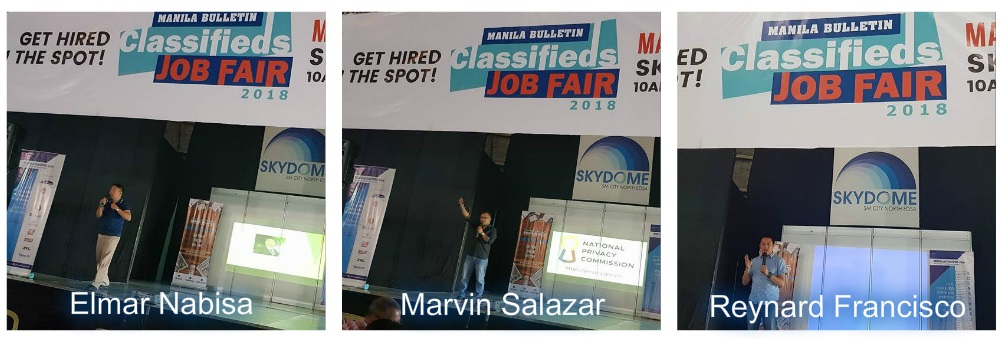 JCI Makati Officers speak at the Manila Bulletin Job Fair