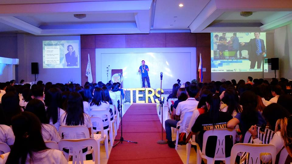 The VoiceMaster inspires over 300 Business Administration Students in Batangas City