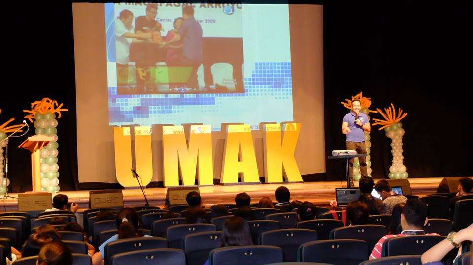 The VoiceMaster inspires graduating students of University of Makati