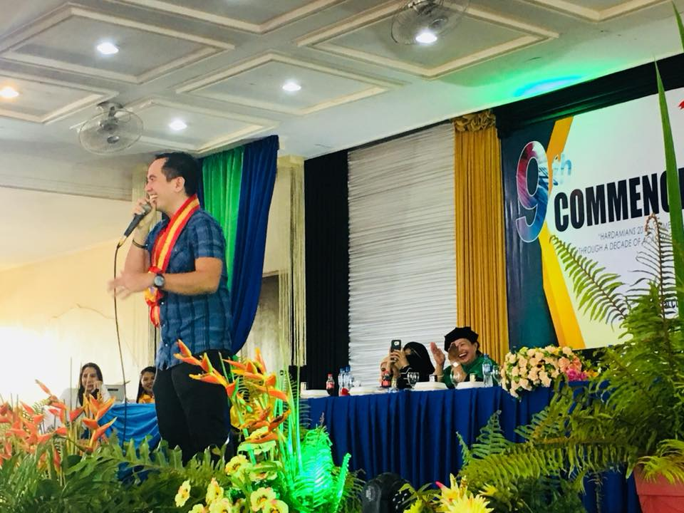 The VoiceMaster livens up Furigay Colleges Commencement Exercises