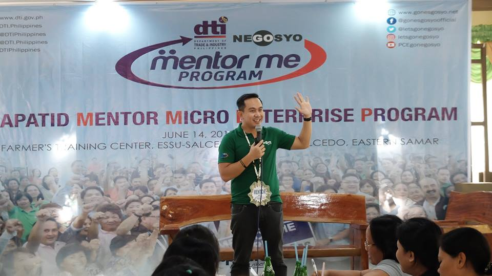 The VoiceMaster speaks about Entrepreneurial Mindset at the DTI Mentor Me Seminar in Samar