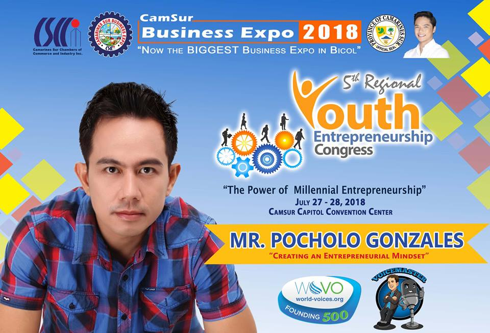 The VoiceMaster Speaks at the 5th Regional Youth Entrepreneurship Congress in CamSur