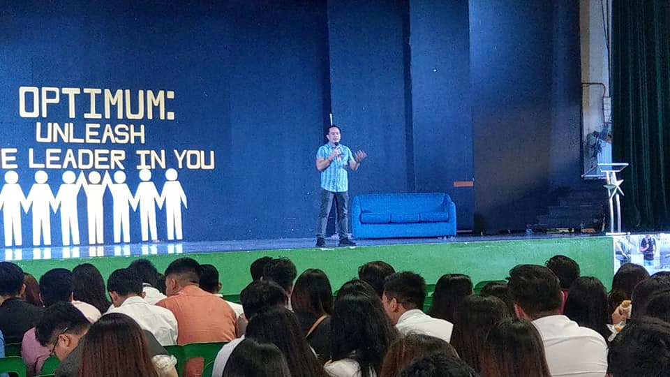 The VoiceMaster as guest speaker in Optimum - Unleash the Leader in You