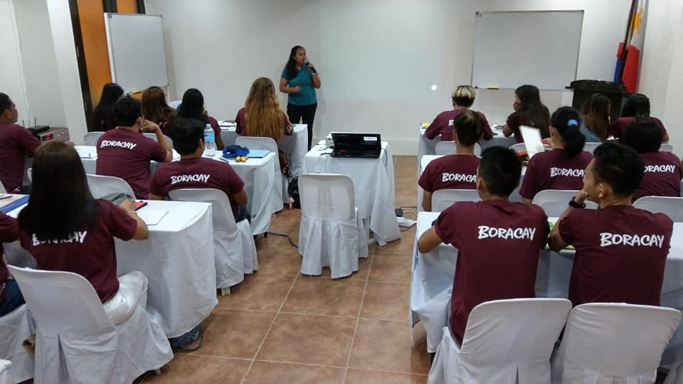 Pochology Academy trainer Ada Cuaresma kicks off the leadership training with REAL Talk